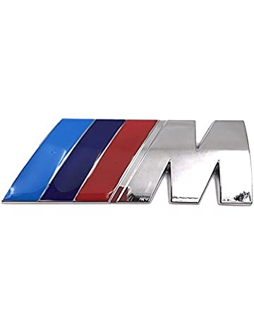 M Power Motorsport Metal Logo Car Carro Sticker Rear Trunk Emblema Grill Badge para E46 E30