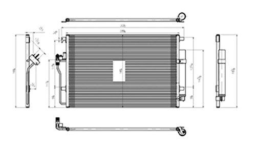 TYC 4240 Replacement Condenser for Mercedes-Benz Sprinter