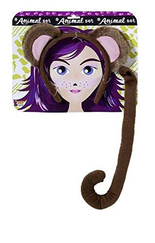 71198 (One Size) Monkey Ears & Tail Set
