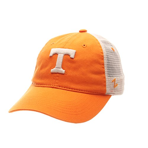 Zephyr NCAA Tennessee Volunteers Adult Men University Relaxed Cap, Adjustable, Team Color/Stone