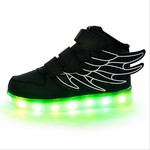 USB All amp;DX The Twenty Wings Colourful W Black Light Shoes Achtund Hits LED W6SqI0BZBn