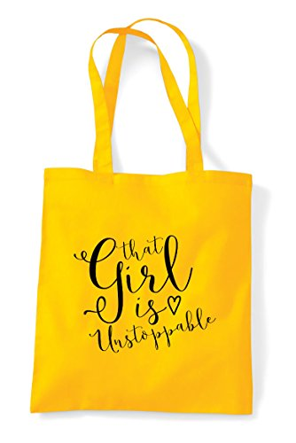 Tote Is That Statement Unstoppable Shopper Girl Bag Yellow Powerful Xqz5Sq