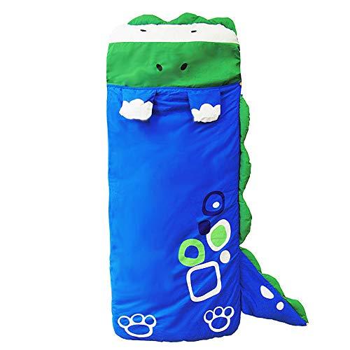 (WINNUO Kids Sleeping Bag - Children Slumber Bags Nap Mat Soft Warm Girls Boys Cute Cat/Rabbit/Crocodile/Dinosaur Slumber Bag )