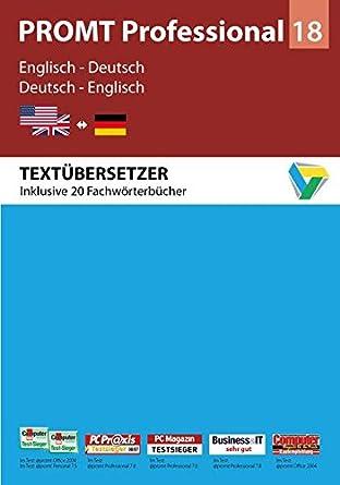 PROMT Professional 18 Englisch-Deutsch: Amazon.de: Software