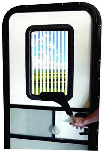 Replace Rv Window - RV Door Window CloZures Shade, Controls Sun Glare, Privacy, and Outside View by Moving fingertip Lever, Without Opening Screen Door. Kit Includes Clear Glass to Replace Frosted Glass. (White)