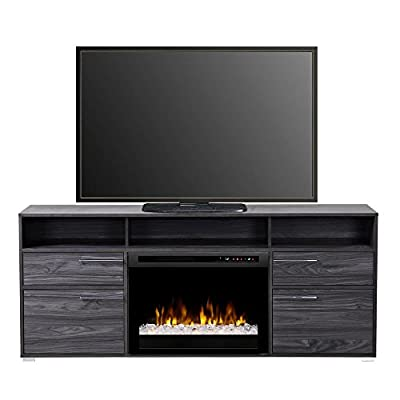 DIMPLEX Electric Fireplace, TV Stand, Media Console, Space Heater and Entertainment Center with Glass Ember Bed Set in Carbon Finish - Sander #GDS25G8-1686CW