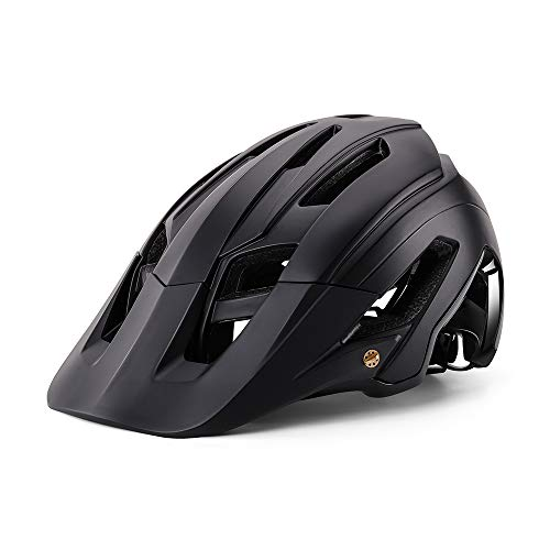 BIKEBOY Adult Bike Helmet, CPSC Certified Lightweight Bicycle Helmet for Men Women, Adjustable Road & Mountain Race Cycling Helmet with LED Safety Light and Removable Visor(22-24.4 inches) (List Of Best Mountain Bike Brands)
