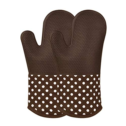 Silicone Oven Mitts Protection Extra Long Thick Quilted Cotton Liner