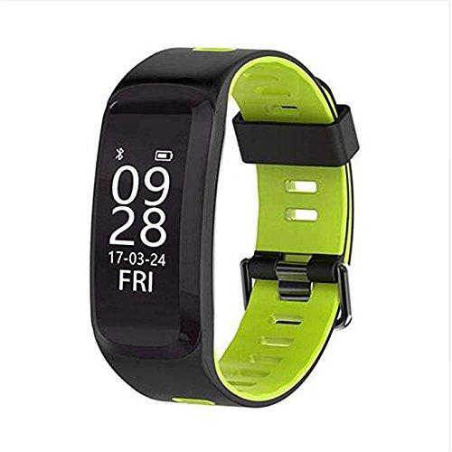 businda f4 Fitness Tracker、Bluetooth 4.0ハートレート腕時計ステップカウンタウォーキングスリープワイヤレススマートリストバンド歩数計防水スポーツブレスレットfor iOS Androidシステム B07BK3Y5RP A-Green