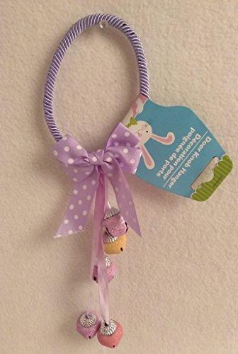 Super Fun Cute Easter Door Knob Hanger With Bells PURPLE