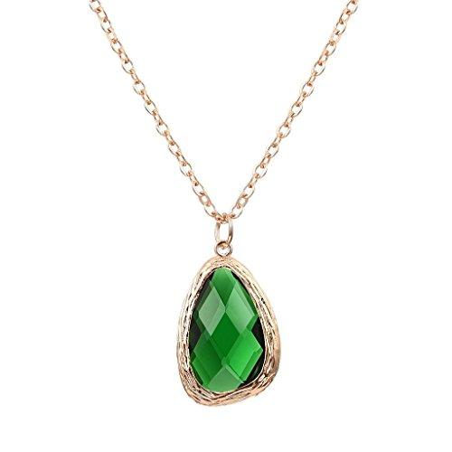 Geometric Green Necklace - 1
