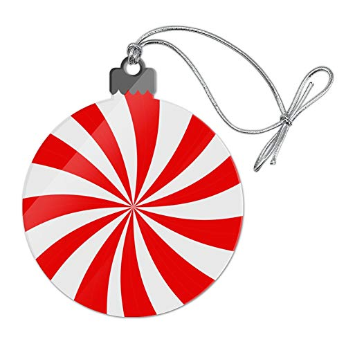 (GRAPHICS & MORE Peppermint Swirl Acrylic Christmas Tree Holiday Ornament)
