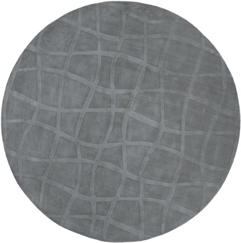 Candice Olson by Surya Sculpture SCU-7506 Transitional Hand Loomed 100% Wool Gray 8' Round Area Rug (Surya 8' Round Sculpture)