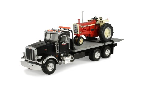 Ertl Big Farm 1:16 Peterbilt Model 367 Delivery Truck With Roll Off And Ih 1206 Nf