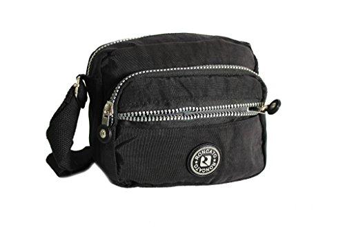 italiana negro bolsa moda 59 colgó 53 Roncato la 46 R correa de wxS6gnPY