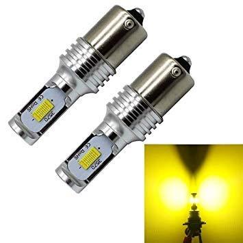 Uniqus 2 PCS DC 12-24V Decode 1156 BA15S 72W 700LM 3000K LED Bulbs Car Turn Lamp Backup Lights, Light color  Yellow