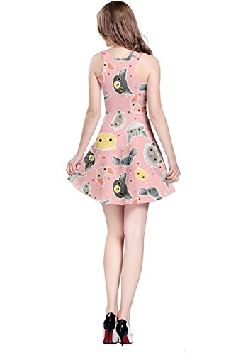 CowCow - Vestido - para mujer Pink Cat