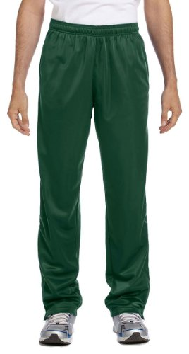 Harriton Mens Tricot Track (Harriton Men's Tricot Track Pants, Medium, DARK GREEN)