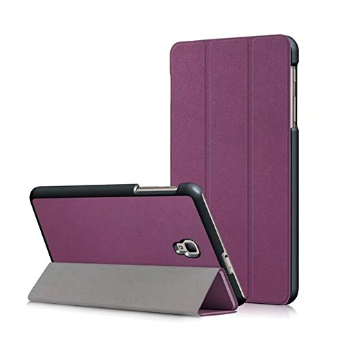 Samsung Galaxy Tab A 8.0 case for SM-T380/T385 2017 Model - ZAOX Leather Slim Light Smart Cover Stand Hard Shell Case for 8.0 Inch Galaxy Tab A Tablet T380 T385 (purple)