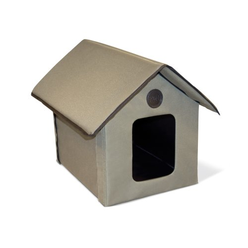 K&H Pet Products Outdoor Kitty House (Unheated) Olive 22_ L x 18_ W x 17_ H