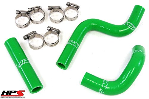 HPS 57-1364-GRN Green Silicone Radiator Coolant Hose Kit