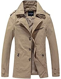 "<span class=""a-offscreen"">[Sponsored]</span>Cotton Fall Trench Coat Outdoor Slim Jacket"