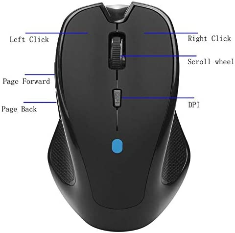 Sala-Deco New Wireless Mouse Bluetooth 3.0 1600DPI 6D Wireless Gaming Mouse office Mice Home Mice for Windows 7//XP//Vista Laptop Notebook