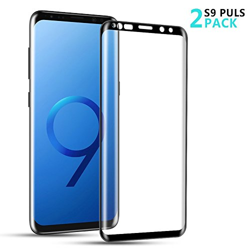 Beatife Galaxy S9 Plus Screen Protector Tempered Glass[2 Pack], Full Screen S9 Plus Screen Cover Saver 3D Curved HD Clear Guard Film[9H Hardness, Anti-Scratch, Anti-Bubble] (NOT for S9)