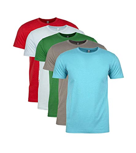 Apparel Assorted - Next Level Premium Fitted CVC Crew Tee Large (Pack of 5) Assorted 5