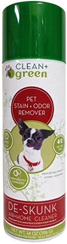 DeSkunk Odor Eliminator, Deodorizer, Clearer to Remove Skunk Smell from Your Pets and Home, Natural Non-Toxic Spray 14 Ounce