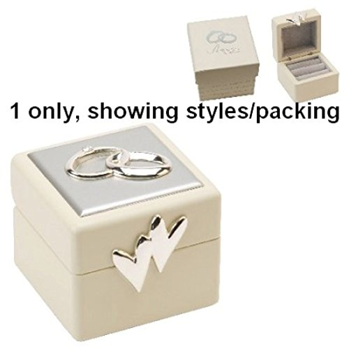 Beautiful Amore Double Wedding Ring Box by Amore