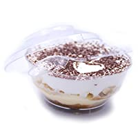 Petits Desserts 18 Dessert Cups 4oz with Lids and 50 Tasting Spoons Dessert Recipe e-Book Included