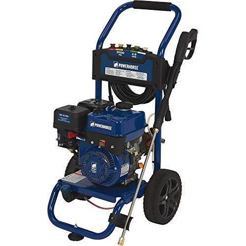 Powerhorse Gas Cold Water Quiet High Pressure Washer Power Washer - 3100 PSI, 2.5 GPM, EPA and CARB Compliant