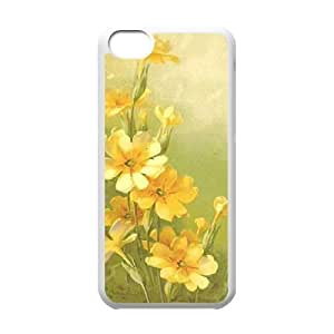Vintage Flower Watercolor DIY Cover Case for Iphone 5C,personalized phone case ygtg586747 by lolosakes