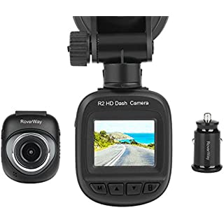 Sale Off Dash Cam RoverWay R2 Mini DVR Driving Recorder Car Camera with G-sensor Wide Angle[1920X1080P] Loop Recording Motion Detection Parking Monitor with Retail Package