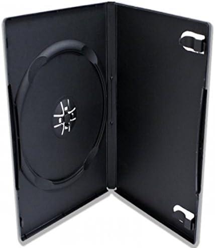 TRENDSKY DVD 7 mm móvil 1 Compartimento Box Case Fácil 1er Single Fundas para CD/BluRay DVD Música Película Datos Rohlinge Funda vacía 100: Amazon.es: Informática