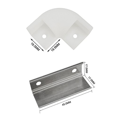 Hunhun L-Shape Corner Connector for Hunhun V Shape LED Aluminum Channel  System (V channel type)