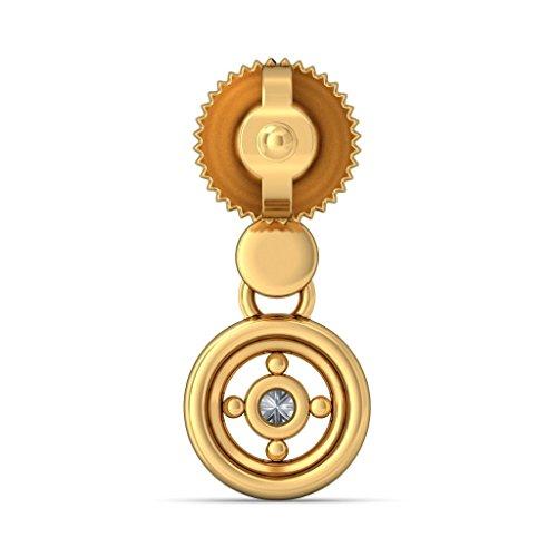 Or jaune 18K 0.09CT TW White-diamond (IJ | SI) Pendants d'oreilles