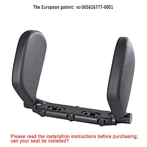 Stand by me Headrests for Car, Car Pillow Neck Support, Car headrest nap Support,Fitted seat Pillow,Adult Travel Neck Pillow,Car Head Rest Child,Car Seat Headrest (Black, Medium)
