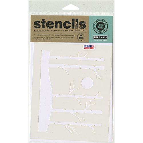 Hero Arts Stencils, 6.25 by 5.25-Inch, Forest by Hero Arts