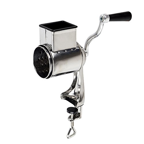 Funnytoday365 Manual Table Mounted Nut Seed Grinder Metal Hand Operated Food Mill Kitchen Tool Rotary Cheese Grater ()