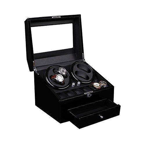 KAIHE-BOX Watch Winders for automatic watches Winder storages box Display Box Case (4+6) Quiet Mabuchi Motors by KAIHE-BOX (Image #1)