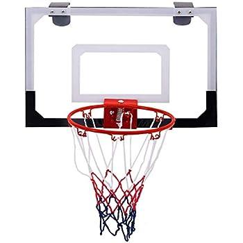 209f6289a456 Goplus 18   x12   Mini Basketball Hoop Over-The-Door Basketball Backboard  Indoor Outdoor Sports Exercise w Ball and Hand Pump Set