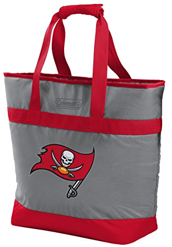 NFL Tampa Bay Buccaneers Unisex LP0757NFL 30 Can Tote Cooler, Red, Adult ()