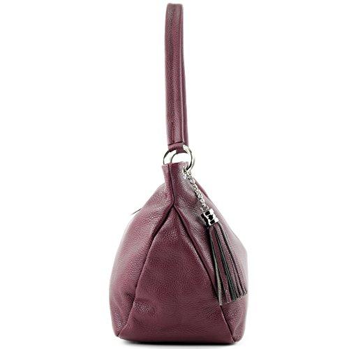 Coprire Bag Modamoda Vera In T154 Pelle Tracolla Bordeauxrot Di pq5vT