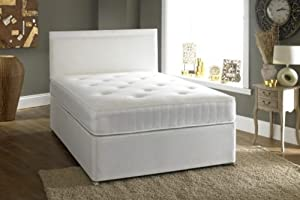 Small double 4 39 0 divan bed 2 drawers and ortho mattress for 4 foot divan beds with drawers