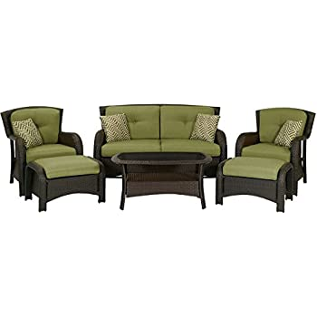 High Quality Hanover Strathmere 6 Piece Patio Seating Set