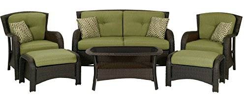 Hanover Strathmere 6-Piece Patio Seating Set - 6 Piece Seating