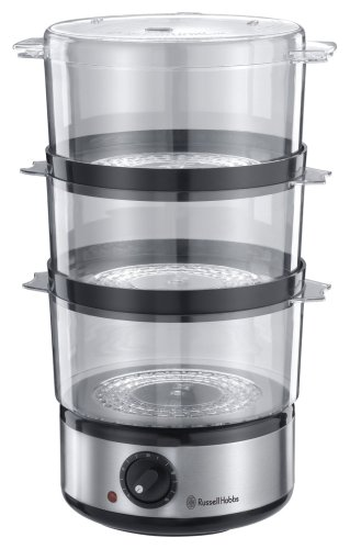 Russell Hobbs Food Collection Compact Food Steamer 14453, 7 L - Brushed Stainless Steel