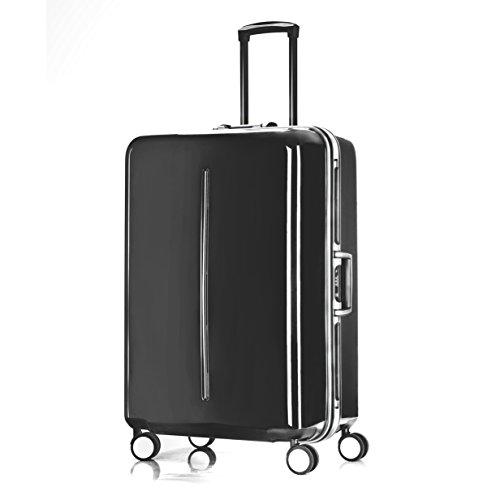 Aluminum Frame Luggage, PC Hardside Spinner TSA Approved Suitcase 28', Silver